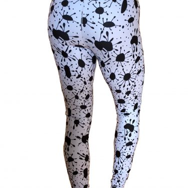WOBUK Womens High Waisted Ink Spot Yoga Leggings Back Full