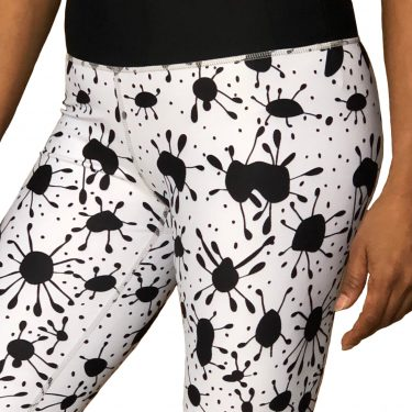 WOBUK Womens Ink Spot Leggings Closeup