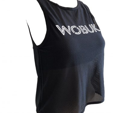 WOBUK Womens Mesh Tank Top Side