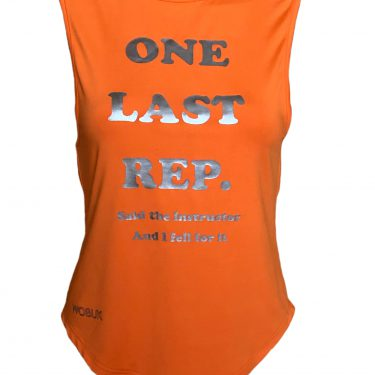 Last Rep Slogan vest top