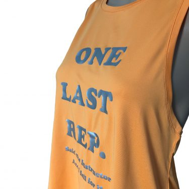Women Slogan Vest Top Orange