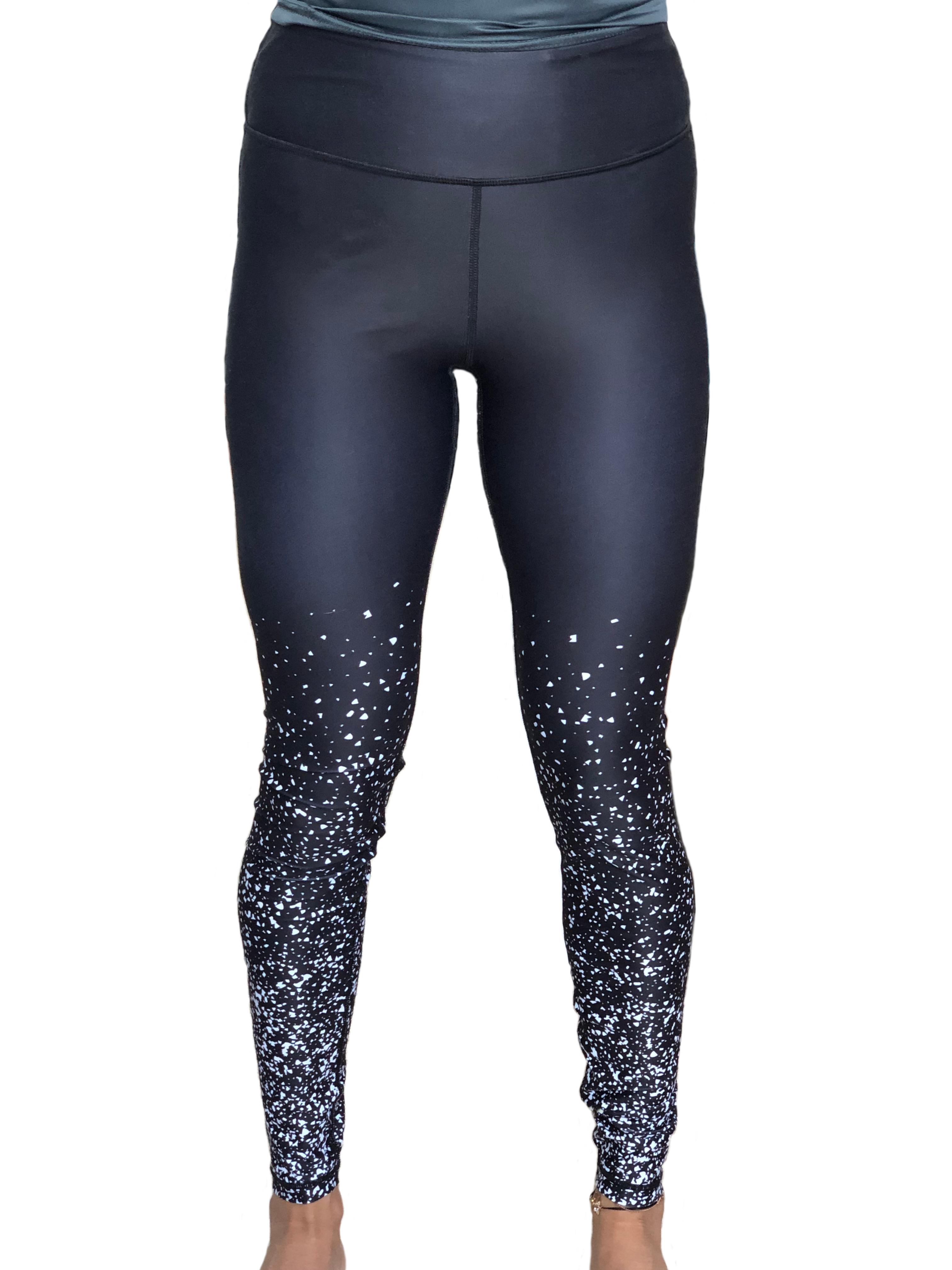 Black Sparkly leggings front view