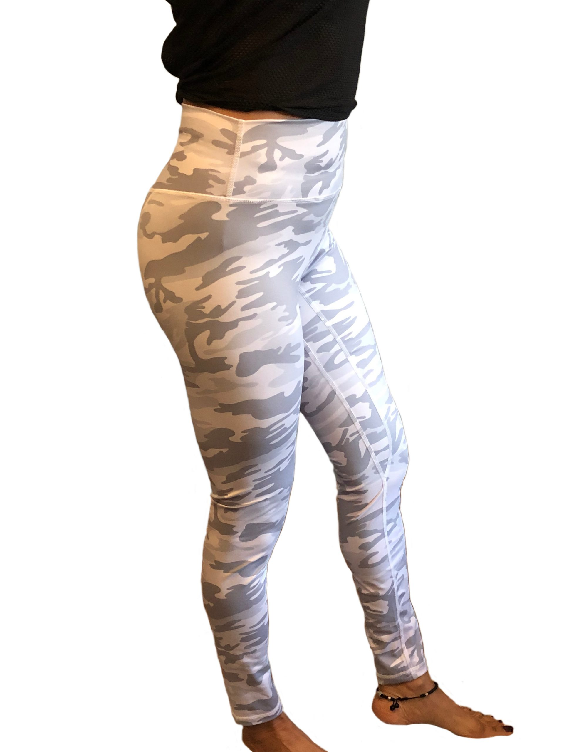 Womens white camouflage leggings